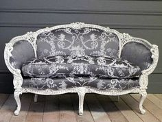 Exquisite hand carved French settee. This would look so great in a staged setting for a wedding.