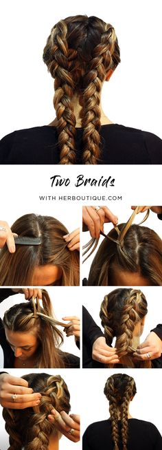 Get Coachella & Stagecoach ready with our Two Braids Tutorial :)!