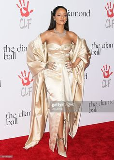 Recording artist Rihanna attends the 2nd Annual Diamond Ball hosted by Rihanna and The Clara Lionel Foundation at The Barker Hanger on December 10, 2015 in Santa Monica, California. (Photo by JB Lacroix/WireImage)