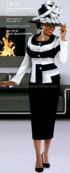 Knit Church Suits by Donna Vinci for Fall 2014 - <a… Church Suits And Hats, Women Church Suits, Church Attire, Church Dresses, Church Hats, Church Outfits, Suits For Women, Fall Dresses, Church Fashion