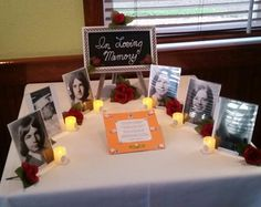 in memory table for deceased classmates