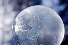 Ice Crystals in a Frozen Bubble by Tom Falconer