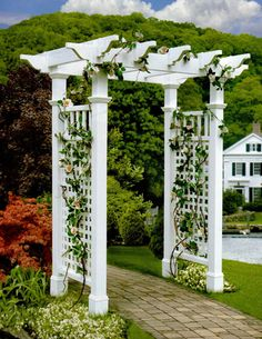 arbor>>this is what i want for my sidewalk leading to my front door.