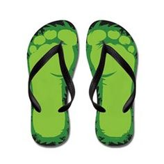 338518765 Bigfoot Feet Flip Flops. More Colors Available In My CafePress Shop  gt   http