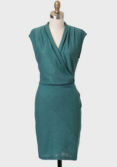 Women's #Fashion Clothing: Dresses:  #Green Juniper Glen Surplice #Dress: Clothes
