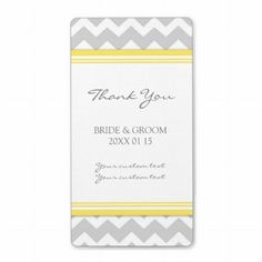 Shop Gray Mint Chevron Wedding Labels created by DreamingMindCards. Personalize it with photos & text or purchase as is! Coral Chevron, Wedding Favor Labels, Champagne Label, Wine Bottle Labels, Wine Label, Wedding Stickers, Custom Address Labels, Wedding Thank You Cards, Gray Yellow