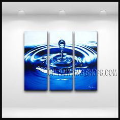 Astonishing Contemporary Wall Art Hand Painted Oil Painting Gallery Stretched Abstract. This 3 panels canvas wall art is hand painted by E.Cheung, instock - $135. To see more, visit OilPaintingShops.com