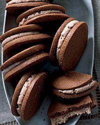 Milk-Chocolate Cookies with Malted Cream Recipe on Food & Wine