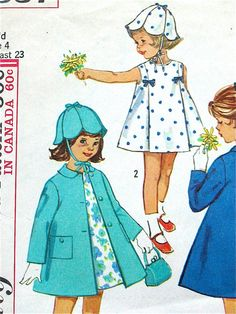 Vintage 60s Simplicity 5337 sewing pattern Child's by Fancywork