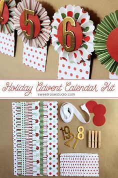 Create a Holiday Advent Calendar in a single afternoon with this Hazel and Ruby Crafternoon Kit!