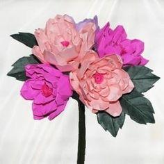 Origami Peonies Delight Bouquet by brandie