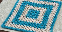 Danyel Pink Designs: CROCHET PATTERN - Vibrant V-Stitch Square