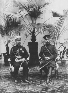 King Chulalongkorn with Tsar Nicholas II in Saint Petersburg, during the King's first Grand Tour in 1897