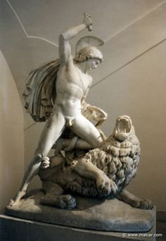 Bellerophon and Chimera. Statue by Johan Nepomuk Schaller, 1777-1842. Österreichische Galerie Belvedere, Wien. Grandson of Sisyphus. Son of Glaucus, King of Corinth.