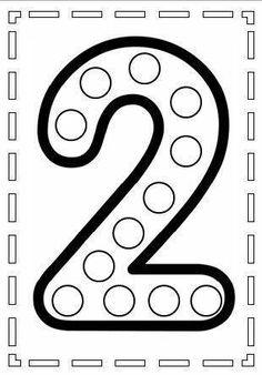 do a dot number 2 Numbers Preschool, Learning Numbers, Preschool Math, Kindergarten Worksheets, Montessori Activities, Preschool Activities, Pre K Worksheets, Do A Dot, Math For Kids