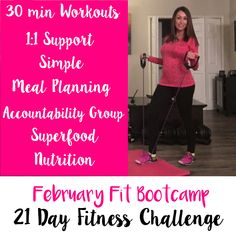 I am looking for up to 5 women that are looking to lose 5-15 pounds in 21 days to join my ❤February Fit Bootcamp ❤  The FUN begins on February 1st.   ❣No dieting. ❣30 minute workouts.  ❣Simple meal plans.  ❣1:1 support ❣24/7 access to our accountability group. ❣Secret online forum.  This is a lifestyle plan that will be based on health and fitness goals that we set for you together.  https://christinadelaney.wufoo.com/forms/s1ii3z2g00o1jza/