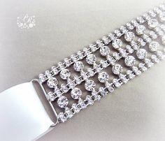 Bridal Wedding sash Clear Crystal Sash Wedding by PureRainDesigns, $45.00
