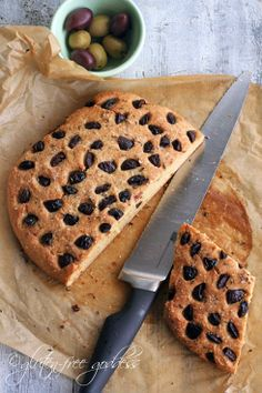 Lovely! Gluten-Free Whole Grain Olive Bread from Gluten Free Goddess #glutenfree