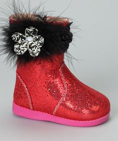 Take a look at this Tootin Tootsies Uptown Girl Sparkle Squeaker Boot on zulily today!