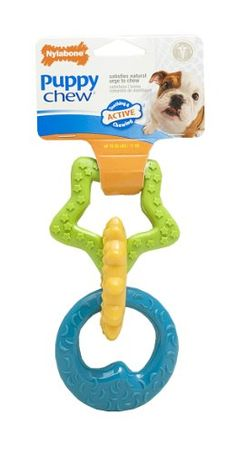 Nylabone Puppy Teething Rings Chew Toy - http://www.thepuppy.org/nylabone-puppy-teething-rings-chew-toy/