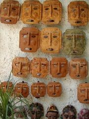 Clay Mask made from sawdust clay ---- this site has some amazing clay recipes if you enjoy making your own check it out :)