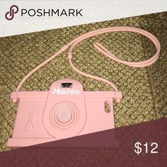 Moshchino iPhone 6+ Case Super cute case! Moschino (inspired) phone case in a baby pink mimicking a camera. The great thing about this case is that is has a cord, I would use it at amusement parks and anytime I wanted to have my phone ready to take a pic without having to dig in my bag for it. The cord makes it super convenient! Accessories Phone Cases