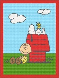 Nap With Snoopy Afghan Blanket Crochet Pattern...need to make