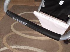 Mückeblog: Stuhl mit Fahrradreifen repariert