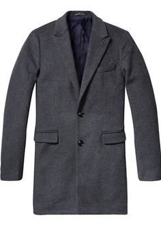 Buy Scotch & Soda Classic Long Coat in Grey Wool. Free UK Delivery available on all purchases at Dapper Street. Stylish Coat, Scotch Soda, Dapper, Suit Jacket, Blazer, Grey, Classic, How To Wear, Jackets