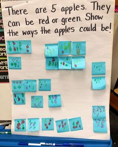 🍎 🍏 Today we read 10 Apples Up on Top and worked through this math problem. Every student was successful, they were challenged to find… Kindergarten Math Activities, Kindergarten Teachers, Math Classroom, Fun Math, Teaching Math, Cardinality Kindergarten, Kindergarten Rocks, Preschool Ideas, Learning Activities