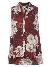 Plum Oriental Sleeveless Shirt from Dorothy Perkins R440,00