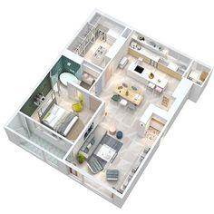 House Floor Design, Sims House Design, Tiny House Layout, House Layouts, Sims House Plans, House Floor Plans, Apartment Layout, Apartment Design, Sims3 House