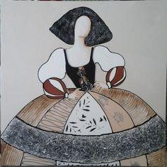 CUADRO MENINA (BACB2016-0427) Cuadro de,menina,plata,moderna,cuadro,pintura,arte,cuadrosmodernos,art,acrílico