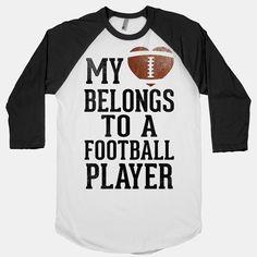 My Heart Belongs to a Football Player (Baseball Tee). Baseball Quotes For Girlfriends . Football Girlfriend Shirts, Football Boyfriend, But Football, Baseball Shirts, Boyfriend Gifts, Baseball Stuff, Baseball Mom, Softball, Basketball Workouts