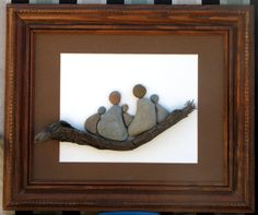 """Just The Five Of Us"" 11"" x 14""  Created using pebbles collected from the shores of Lake Michigan."