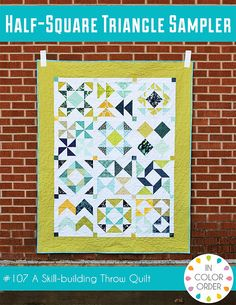 Modern Quilts | Sewing Tutorials | In Color Order: HST Block of the Month: Finishing and Quilt Reveal