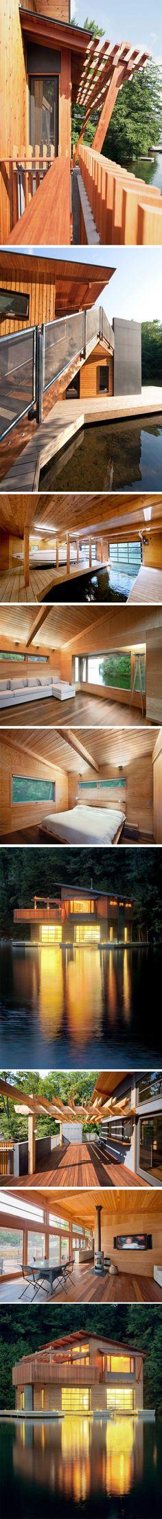 Muskoka Boathouse by Christopher Simmonds Architect. Canada