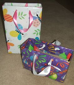 cereal boxes wrapped in paper for gifts