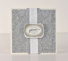 Anna Griffin NIFTY BOW TIE Letterpress Embossing Folder Card Making