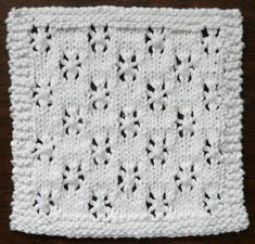 SNOWFALL One Ounce Dishcloth Free Knitting Pattern. Skill Level: Intermediate The simple six-sided eyelet pattern makes a perfect winter design in white or do a leafy green ombre to celebrate spring's arrival. Free Pattern More Patterns Like This! Knitted Dishcloth Patterns Free, Knitted Washcloths, Crochet Dishcloths, Knitting Patterns Free, Stitch Patterns, Free Pattern, Crochet Patterns, Easy Knitting, Knitting Stitches