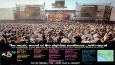 US Festival 1983 Band Lineup poster.