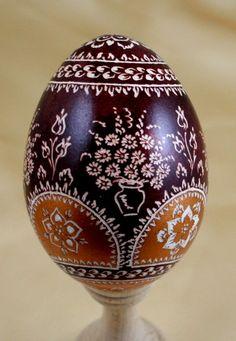 Pâques, oeufs de Pâques - œuf d'oie est une création orginale de EWJANART sur DaWanda