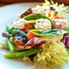 Chicken liver mousse with a frisée salad.