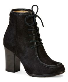 Another great find on #zulily! Black Parker Moc Short Leather Boot #zulilyfinds
