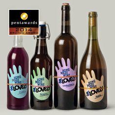 Bronze Pentawards 2014, categoría bebidas: Vino Marca: Glovely, diseño: Depot WPF, Rusia