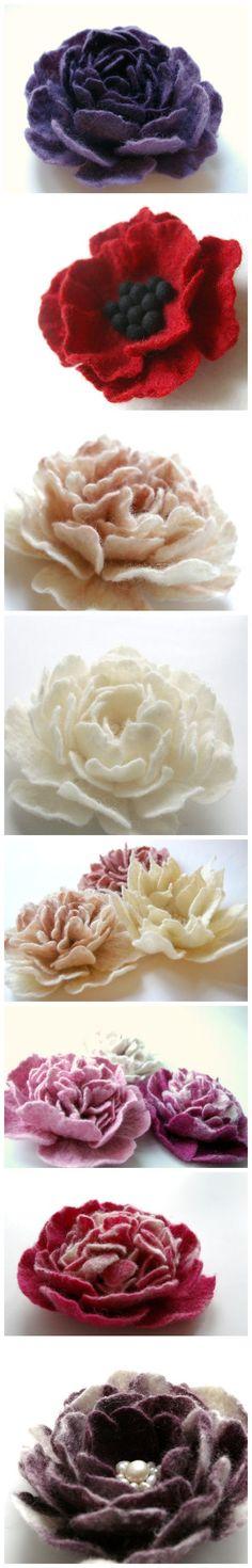 Flowers from felt...