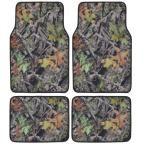 Hawg Camouflage MT-704 Full Camo 4 Pieces Car Floor Mats, Gray