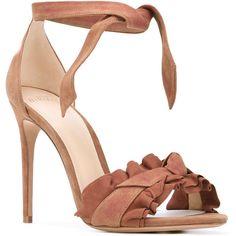 Alexandre Birman Lupita sandals (16.645 UYU) ❤ liked on Polyvore featuring shoes, sandals, nude sandals, leather shoes, leather footwear, real leather shoes and alexandre birman