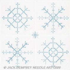 """Snowflakes 18"""" Quilt Squares - Stamped Cross Stitch Kit"""