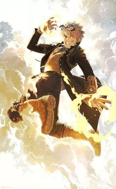 Me Anime, Fanarts Anime, Cute Anime Guys, I Love Anime, My Hero Academia Shouto, My Hero Academia Episodes, Hero Academia Characters, Arte Steampunk, Bakugou Manga
